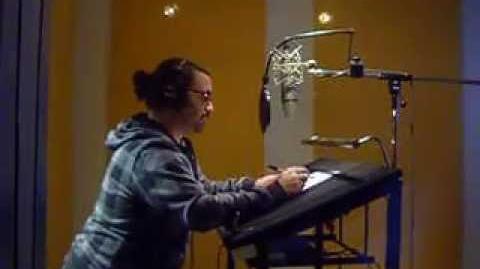Pablo Gandolfo en plena grabación Dr Rana - Pecezuelos