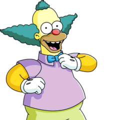Krusty, el payaso tambien en <a href=