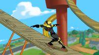 Beak running the skate course 5