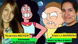Entrevista a Eder La Barrera y Yojeved Meyer (Morty y Stevonnie) Rick & Morty y Steven Universe