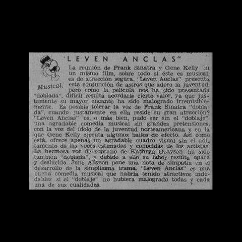 Control de Estrenos. Revista Ecran 1946.