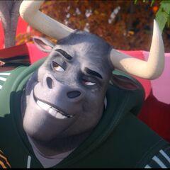 Toro Verde en la película animada <a href=