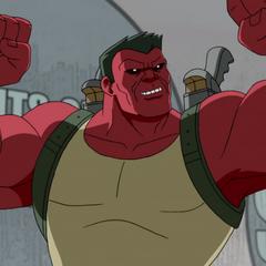 Red Hulk en <a href=