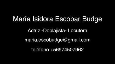 Reel Voz Publicidad María Isidora Escobar Budge