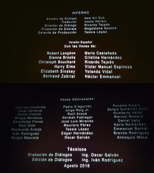 Créditos Inferno Cine