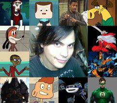 Ángel y algunos de sus personajes