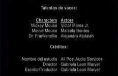 Créditos de doblaje de Fuga de cerebros (TV) (DC)