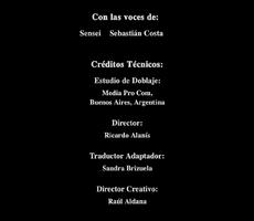 Créditos de doblaje de Power Rangers Dino Trueno (DVD)