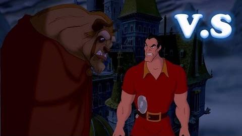 "Batalla Disney ""Bestia vs Gaston"" La Bella Y La Bestia"