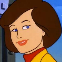 Dra. Quinn Darian en la serie animada de <a href=