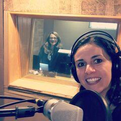 Maggie Vera y Analiz Sánchez (Rainbow) en grabaciones. (09/06/16)