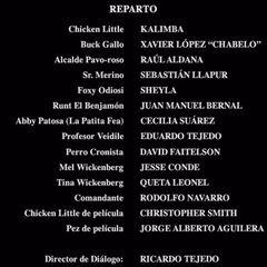 Créditos del DVD (Español Neutro y Mexicana).