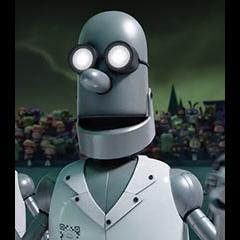 Robot de exposición en <a href=