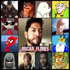 Óscar Flores.Doblaje