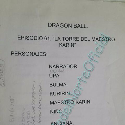 Guión del episodio 61, con anotaciones escritas por <a href=