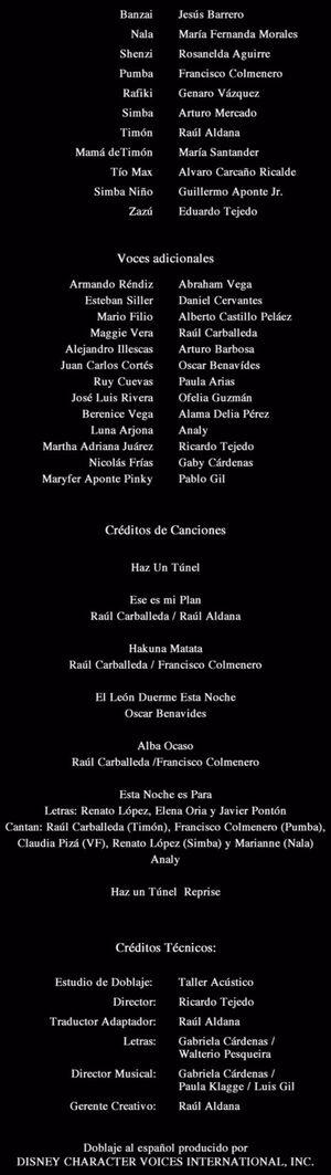 Doblaje Latino de El Rey León 3 Hakuna Matata