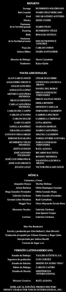 Doblaje Latino de Los Fantasmas de Scrooge