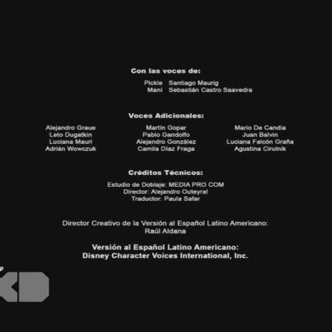 Créditos de Disney XD Latinoamérica