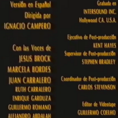 Creditos del VHS