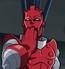 Alto Evolucionador de El Escuadrón de Superhéroes Episodio El Dinosaurio Diabolico