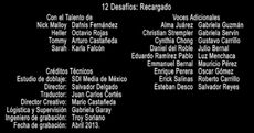 Doblaje Latino de 12 Desafíos Recargado
