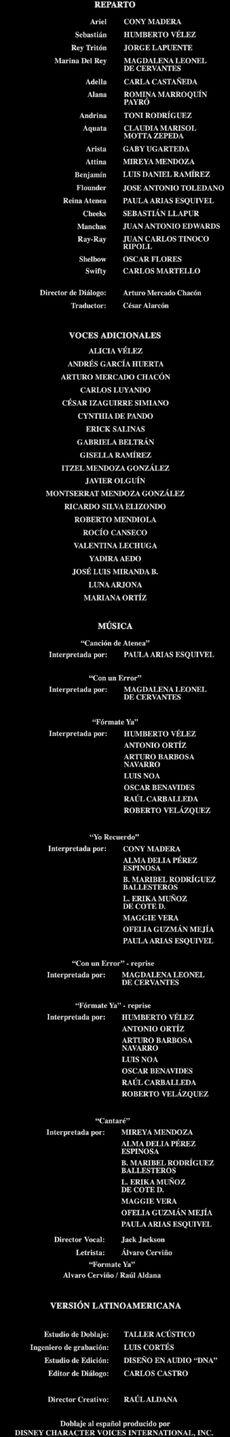 Doblaje Latino de La Sirenita 3 Los Comienzos de Ariel