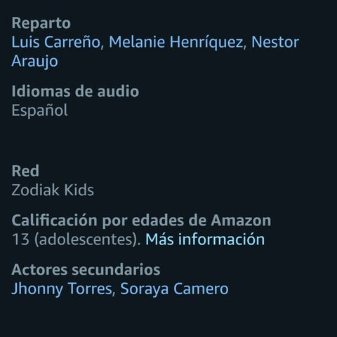 Créditos vía Amazon Prime Video.