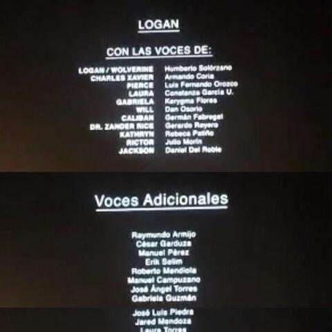 Créditos del cine, DVD y Blu-ray.