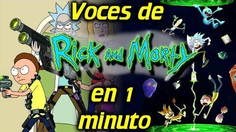 Voces de RICK Y MORTY en 1 minuto- -15