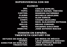 Doblaje Latino de Sobreviviendo a Sid