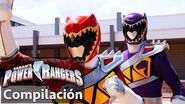 Power Rangers en Español Rangers Dino Super Charge juntos!