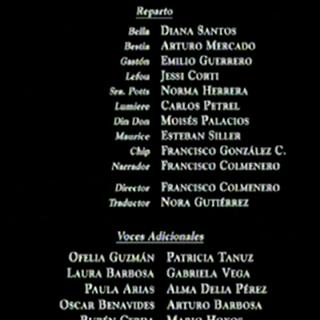Créditos del VHS y DVD (2002)