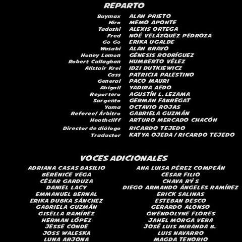 Créditos del DVD y Blu-ray.