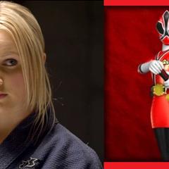 Lauren Shiba (Ranger Samurai Roja), en <a href=
