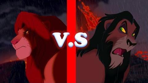 "Batalla Disney ""Simba VS Scar"" El Rey Leon"