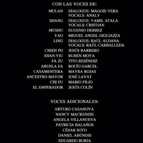 Créditos del DVD (Edición Especial)