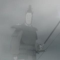 Arquero en la niebla en <a href=