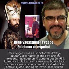 René Sagastume con su personaje Suleimán en Suleimán