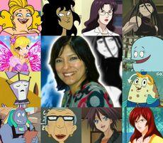 Ivette y algunos de sus personajes