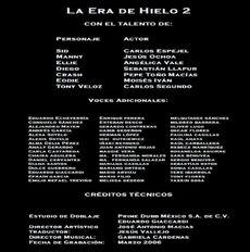 Doblaje Latino de La Era de Hielo 2 (2)