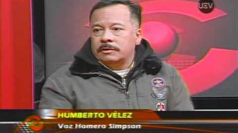 Entrevista Homero Simpson y Sr. Burns en Chile