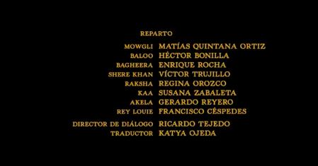 El libro de la selva (2016) Doblaje Latino Creditos 1