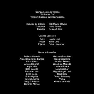 Créditos de doblaje (1x01)