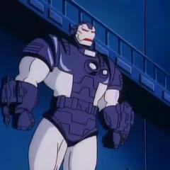 Máquina de guerra (James Rhodes) en la serie animada de <a href=