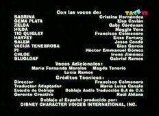 Créditos de doblaje de Sabrina, la brujita (TV) (TaTeTi)