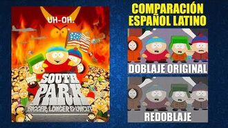 South Park- La Película -1999- Doblaje Original y Redoblaje - Español Latino - Comparación y Muestra