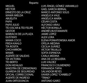 Coco Créditos Doblaje Latino 1