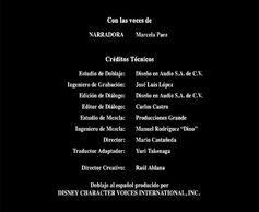 Créditos de doblaje de El misterio de los flamencos (DVD)