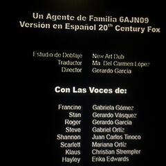 Creditos del Episodio 7x6 <i>The Scarlett Getter/Scarlett la Impostora</i>.