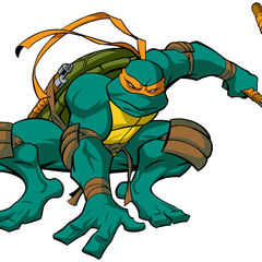 Miguel Ángel en <b>Las Tortugas Ninja</b>.